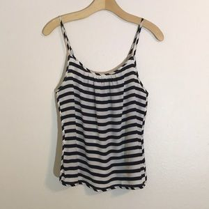 Juicy Couture striped silk tank top